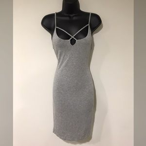 Gray stretchy dress